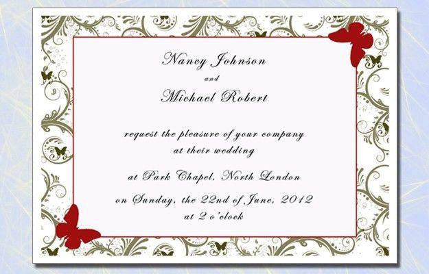 Sample Of Wedding Invitation Cards - Festival-tech.Com