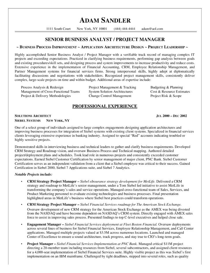 It Business Analyst Resume | berathen.Com