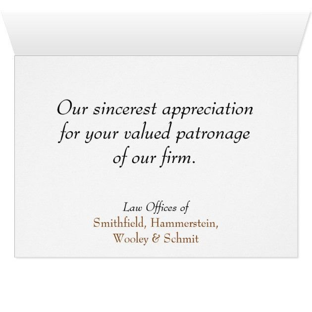 Business Elegance Attorney Client Thank You Card | Zazzle.com