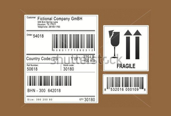 Shipping Label Format] Shipping Labels Format For A Typical