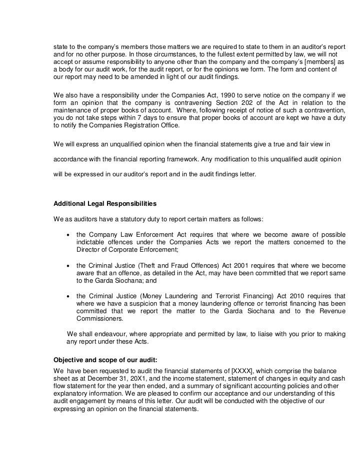 Sample audit engagement letter final2 jan 2011