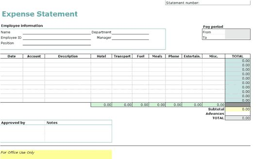 Download Open Office Expense Report Template | rabitah.net