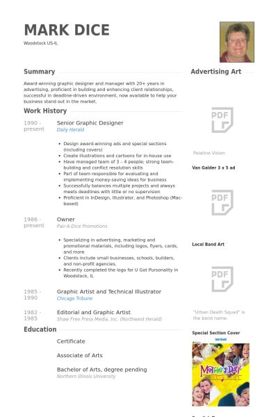Senior Graphic Designer Resume samples - VisualCV resume samples ...