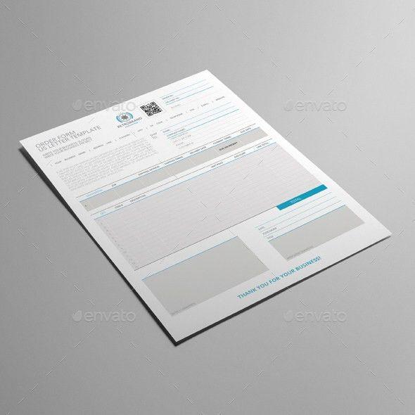 Order Form US Letter Template by Keboto | GraphicRiver