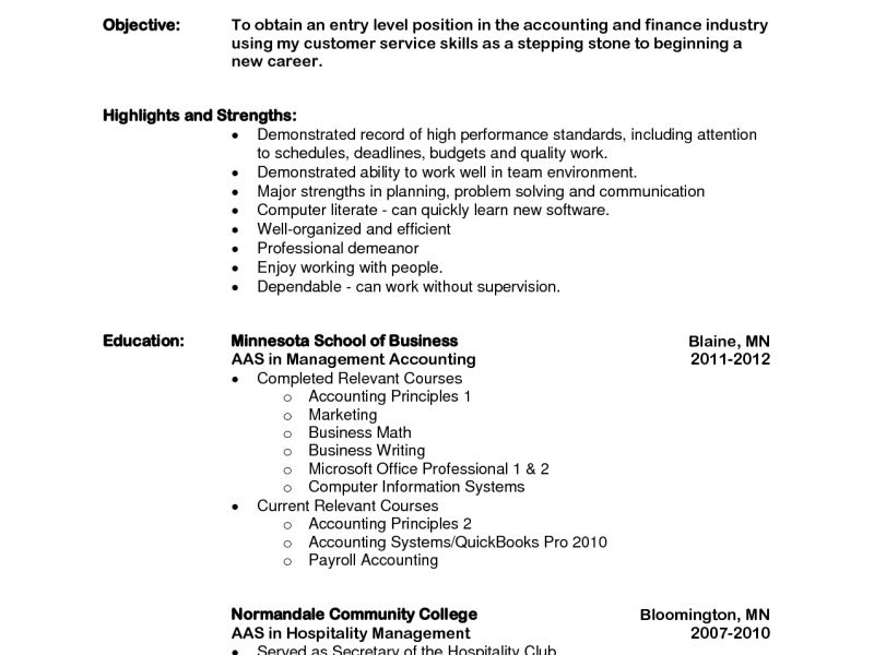 Lofty Design Resume Objective Entry Level 10 Entry Level Resume ...