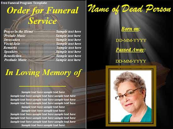Memorial Brochure Template. Funeral Memorial Programs Templates ...