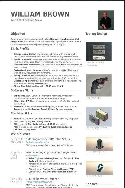 CNC Programmer Resume Sample - Sample Resume Cover Letter Format