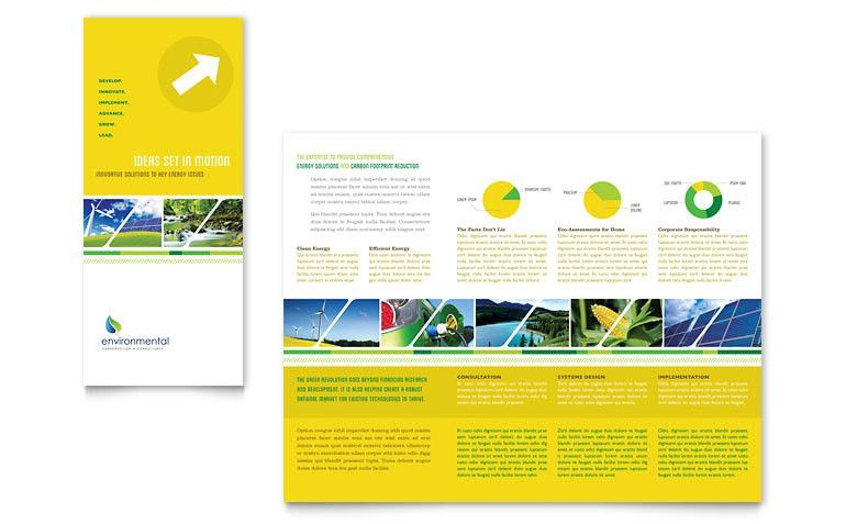 Environmental Conservation Tri Fold Brochure Template - Word ...