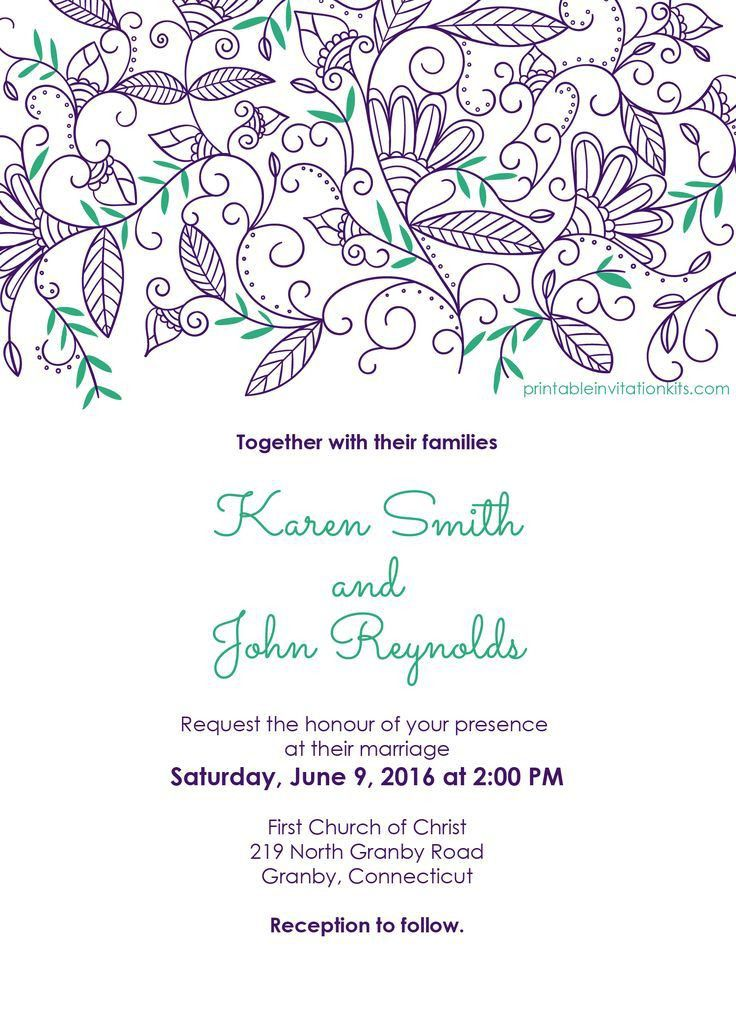 Wedding Invitation Templates Free Download - marialonghi.Com