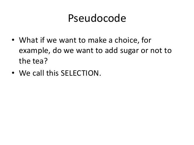 Introduction to Pseudocode