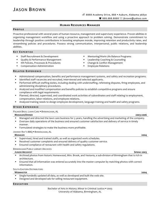 human resources cover letter sample examples of cover letters ...