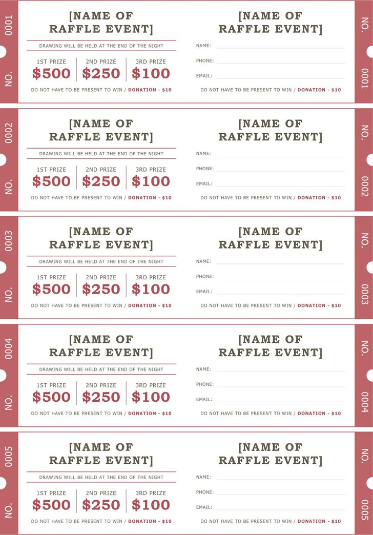 Raffle Ticket Template 2 | Positively Printable! | Pinterest ...
