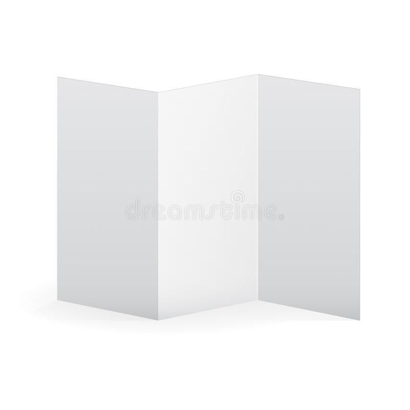 Blank Vector White Tri Fold Brochure Template. Stock Vector ...