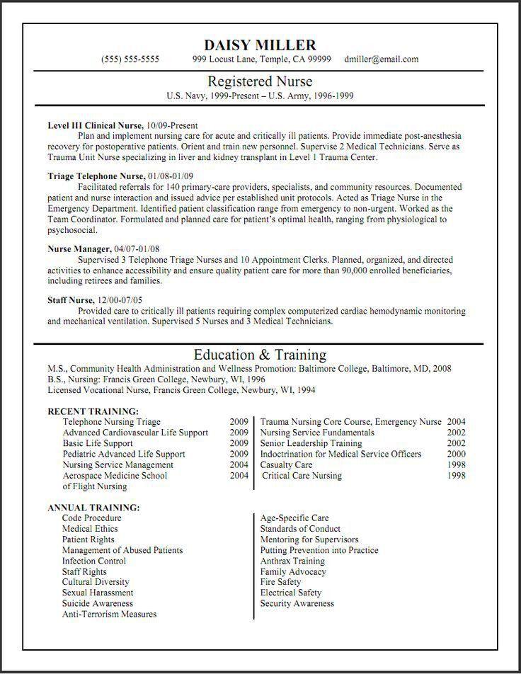 The 25+ best Rn resume ideas on Pinterest | Nursing cv, Registered ...