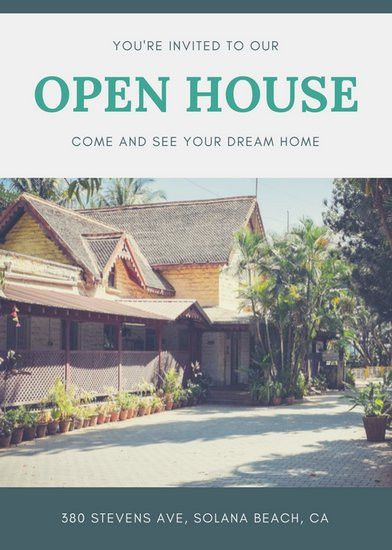 Green Border Open House Flyer - Templates by Canva