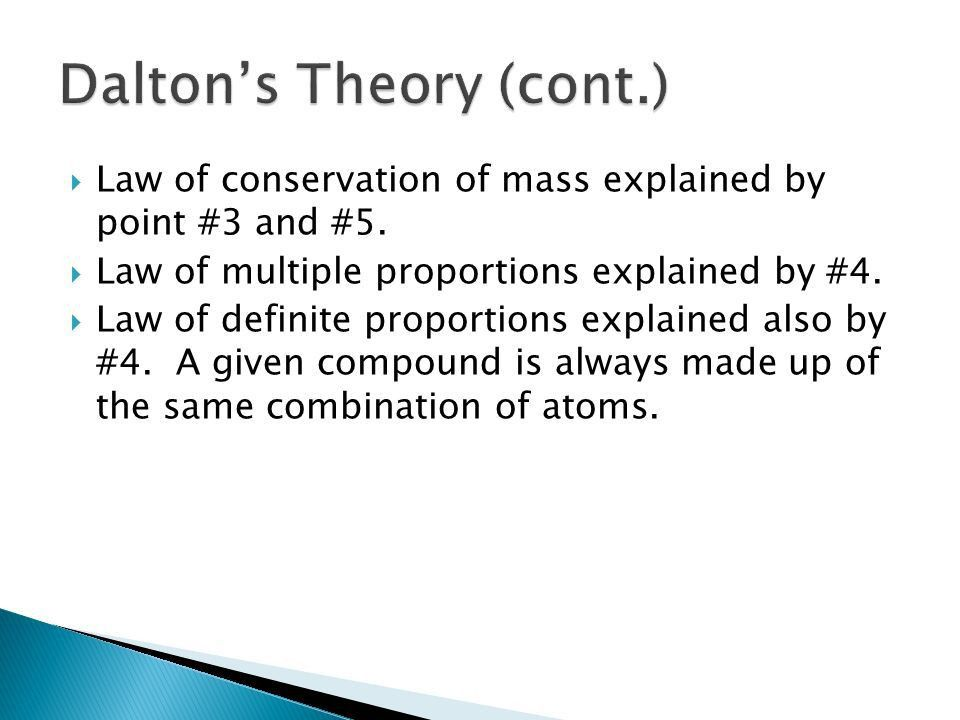 Objectives: ◦ Explain  The law of conservation of mass  The ...