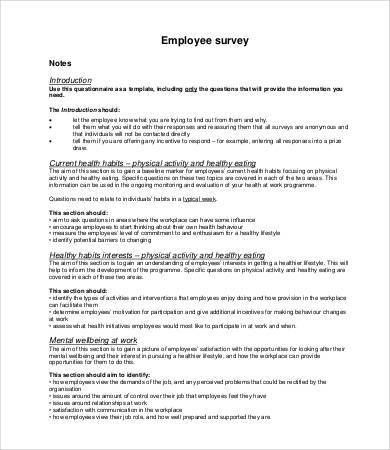 Printable Survey Template - 10+ Free Word, PDF Documents Download ...