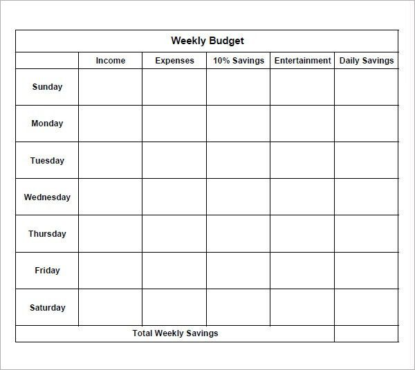 Sample Weekly Budget. Monthly Budget Spreadsheet For College ...