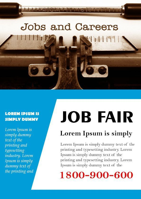 10 Convincing Job Fair Flyers in Word & PSD Templates - Demplates
