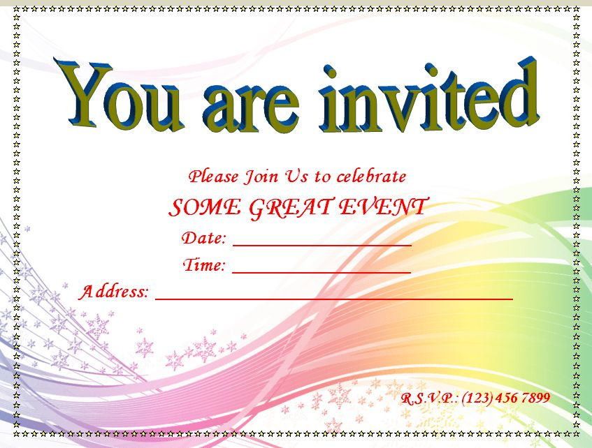 Printable Blank invitation Templates | Free Invitation Templates ...