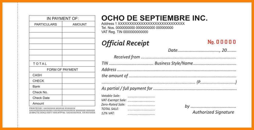 9+ sample of official receipt | hr cover letter