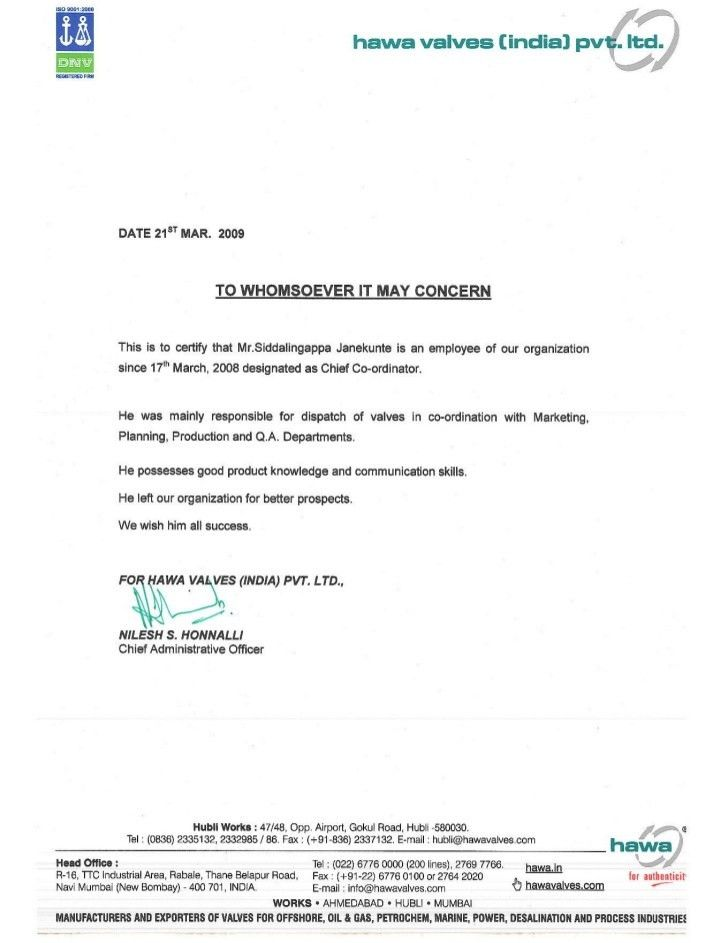 application letter experience certificate, It Happened to Me: 4 ...