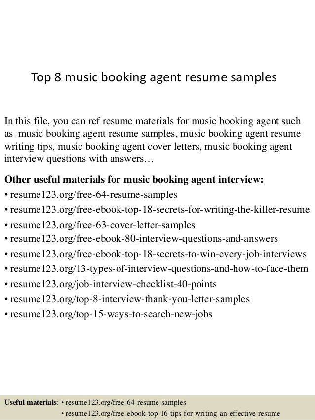 top-8-music-booking-agent-resume-samples-1-638.jpg?cb=1437640337
