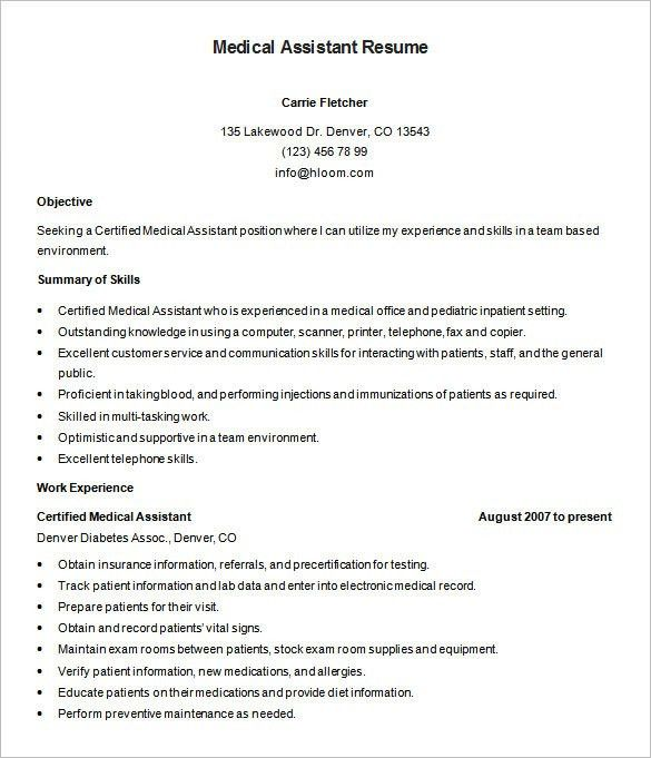 Resume Templates For Doctors 4 MD Physician Doctor Resume Free PDF ...
