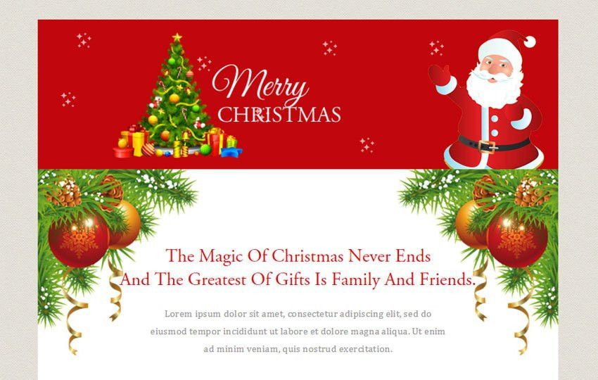 Merry Christmas a Newsletter Responsive Web Template - w3layouts.com