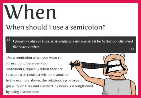 how to use semicolon example | sop examples