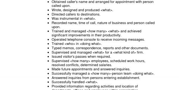 Salon Receptionist Resume Objective Salon Receptionist Resume ...