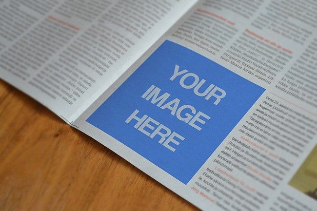 Free Newspaper Advertising Mockup Template - Mediamodifier ...