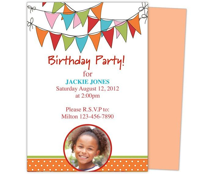 Kids Birthday Invitation Sample | Invitation Ideas