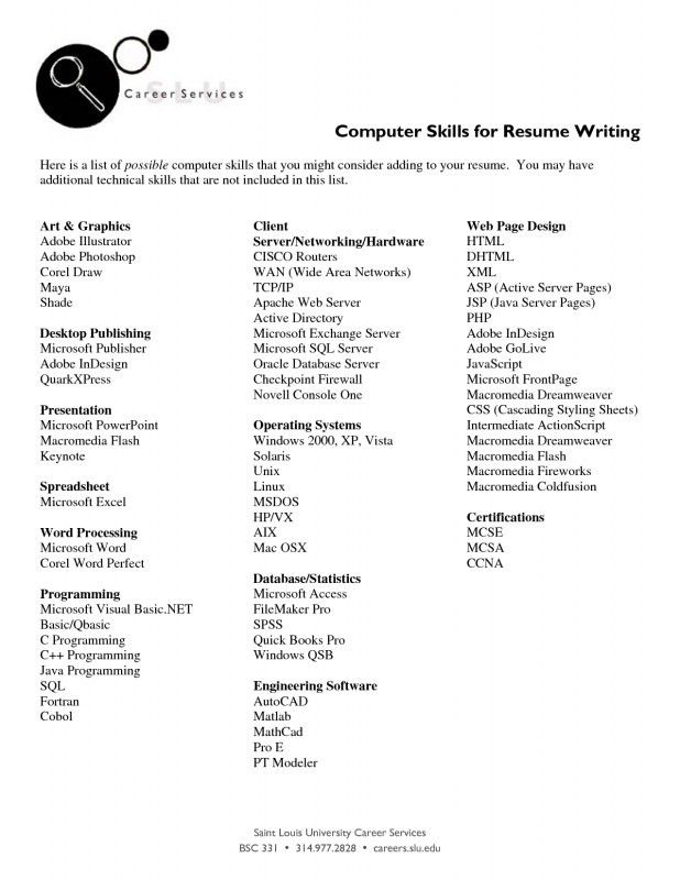 examples resume skills how to write a resume skills section