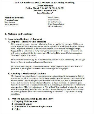 Agenda Sample in Word - 28+ Examples in Word