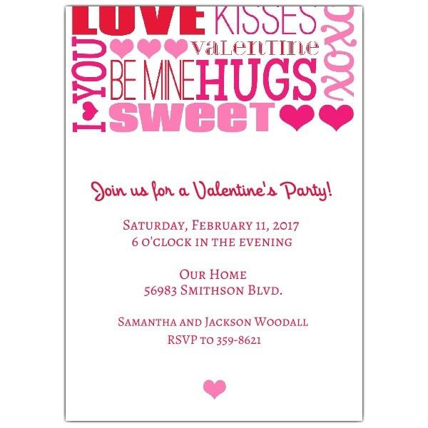 Sweet Words Valentines Day Invitations | PaperStyle