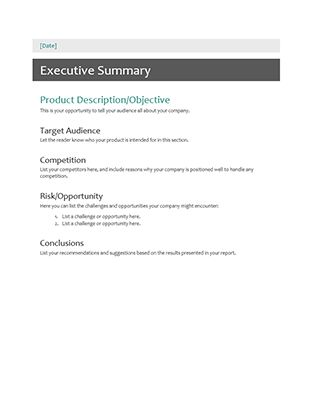 Executive summary - Office Templates