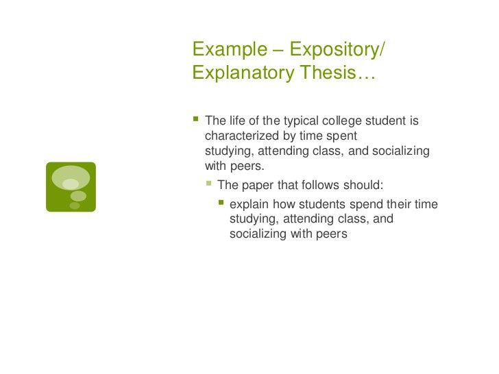 How to write a thesis statment