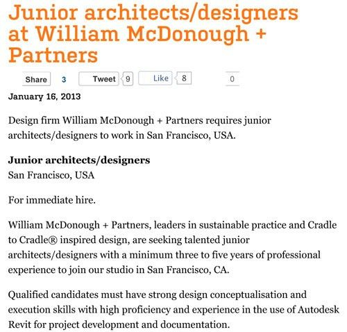cover letter for architects