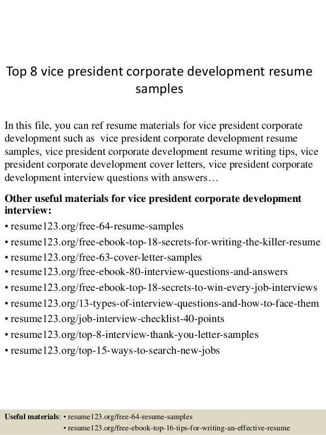 top-8-vice-president-corporate-development-resume-samples -1-638.jpg?cb=1432734158