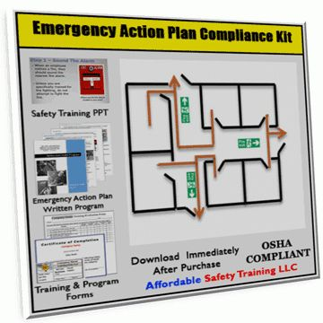 Emergency Action Plan Safety Training Compliance Kit – XO Safety