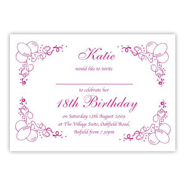 Invitations For 18Th Birthday | afoodaffair.me