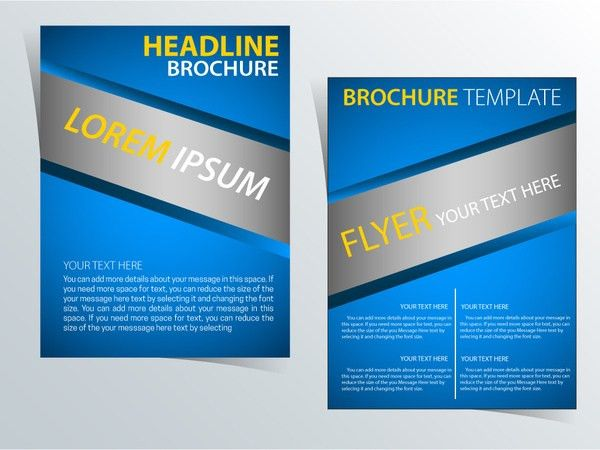 Brochure template vector illustration with diagonal style Free ...