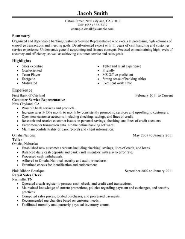sample resume objective customer service representative resume - Sample Resumes For Customer Service