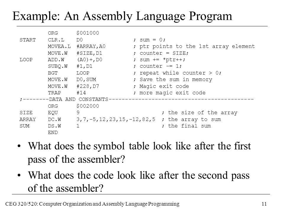 CEG 320/520: Computer Organization and Assembly Language ...