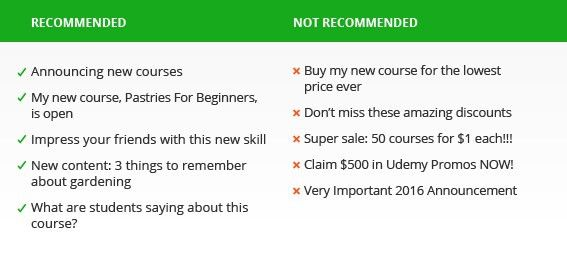 Promotional Emails & Announcements – Udemy