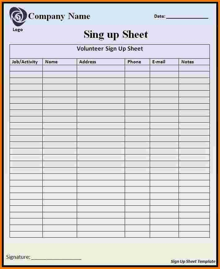 Sign In Sheet Template. Blank Attendance Sign-In Sheet - Excel ...