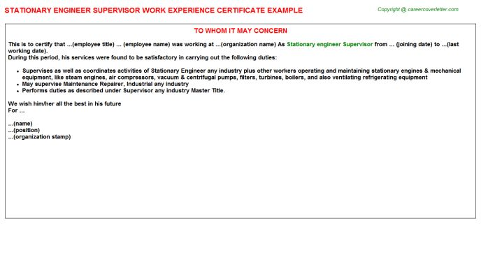 Noc Network Engineer S Isp Work Experience Letters