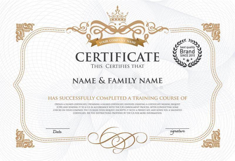 Certificate Design Template. Stock Vector - Image: 55469929