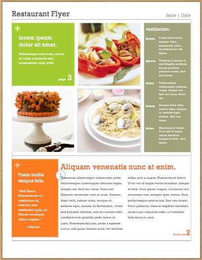 restaurant flyer design template